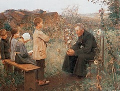 Catechism Lesson - Jules-Alexis Muenier