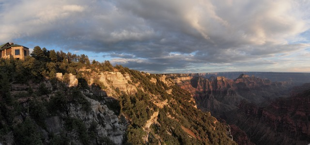 A Panoramic View of the North Rim Lodge